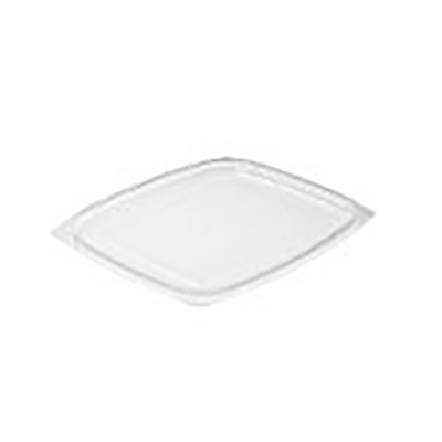 ClearPac® Plastic Flat Lid - 6.5in x 7.5in, Clear