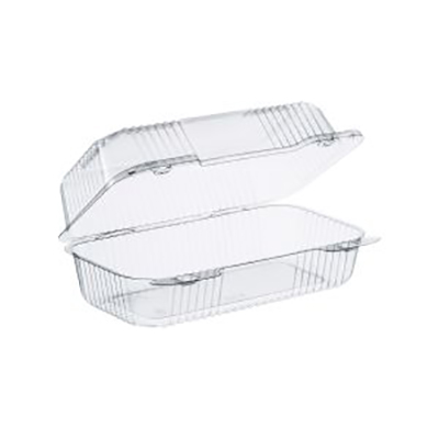 StayLock® Oblong Container with Hinged High Dome Lid - 9in Medium, Clear