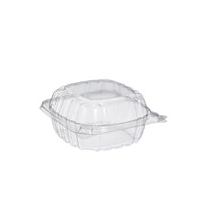 CearSeal® Sandwich Container with Hinged Lid - 5in, Clear
