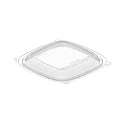 PresentaBowls® Square PET Lid - Small, Clear