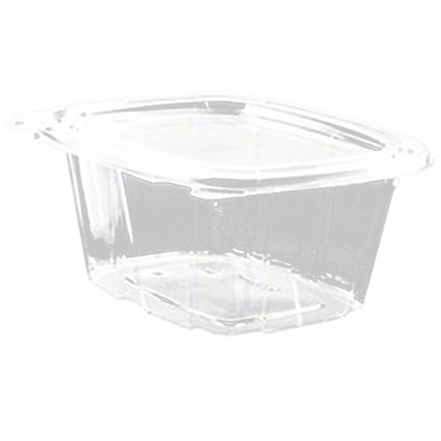 ClearPac® SafeSeal™ Tamper-Resistant Container with Hinged Flat Lid - 16oz