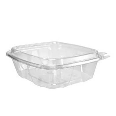 ClearPac® SafeSeal™ Tamper-Resistant Container with Hinged Dome Lid - 24oz