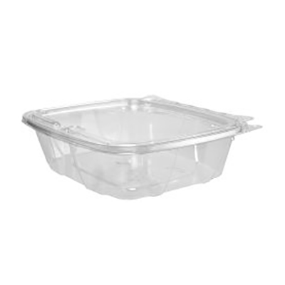 ClearPac® SafeSeal™ Tamper-Resistant Container with Hinged Flat Lid - 24oz