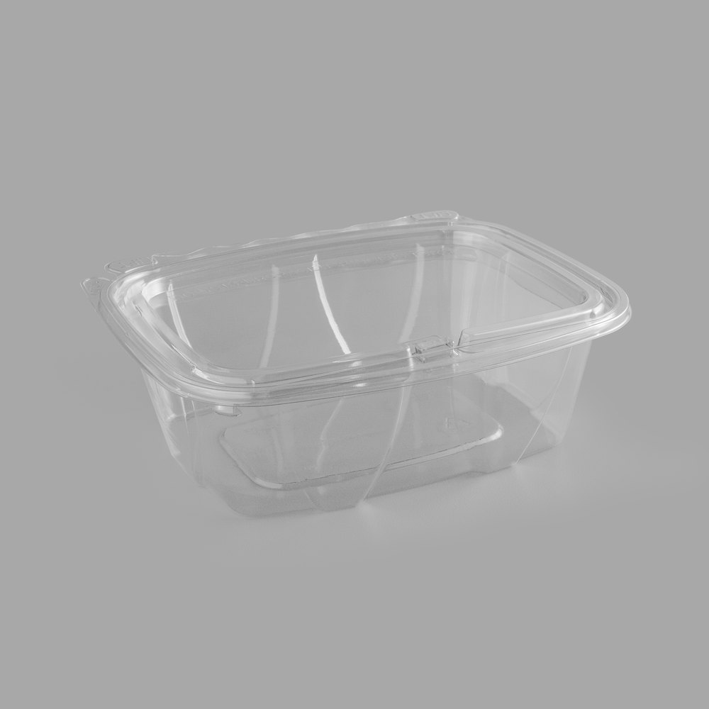 ClearPac® SafeSeal™ Tamper-Resistant Container with Hinged Flat Lid - 32oz