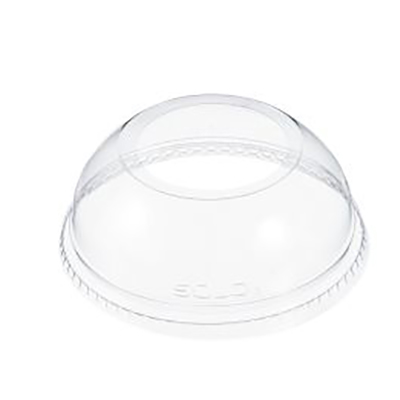 Dart® Dome Lid with Hole - 3.9in, Clear