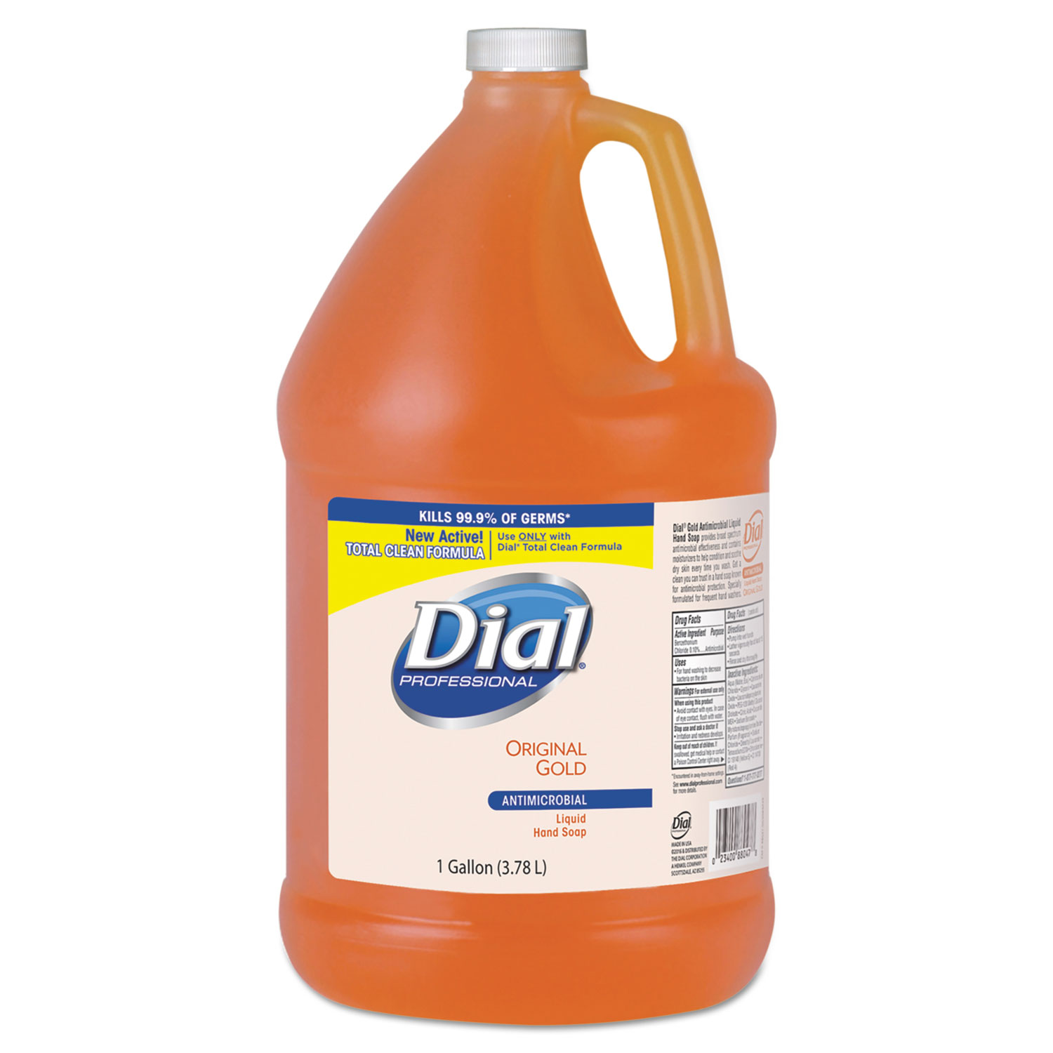 Dial Gold Antimicrobial Liquid Hand Soap - Floral Fragrance, 1 Gallon, 4/Case