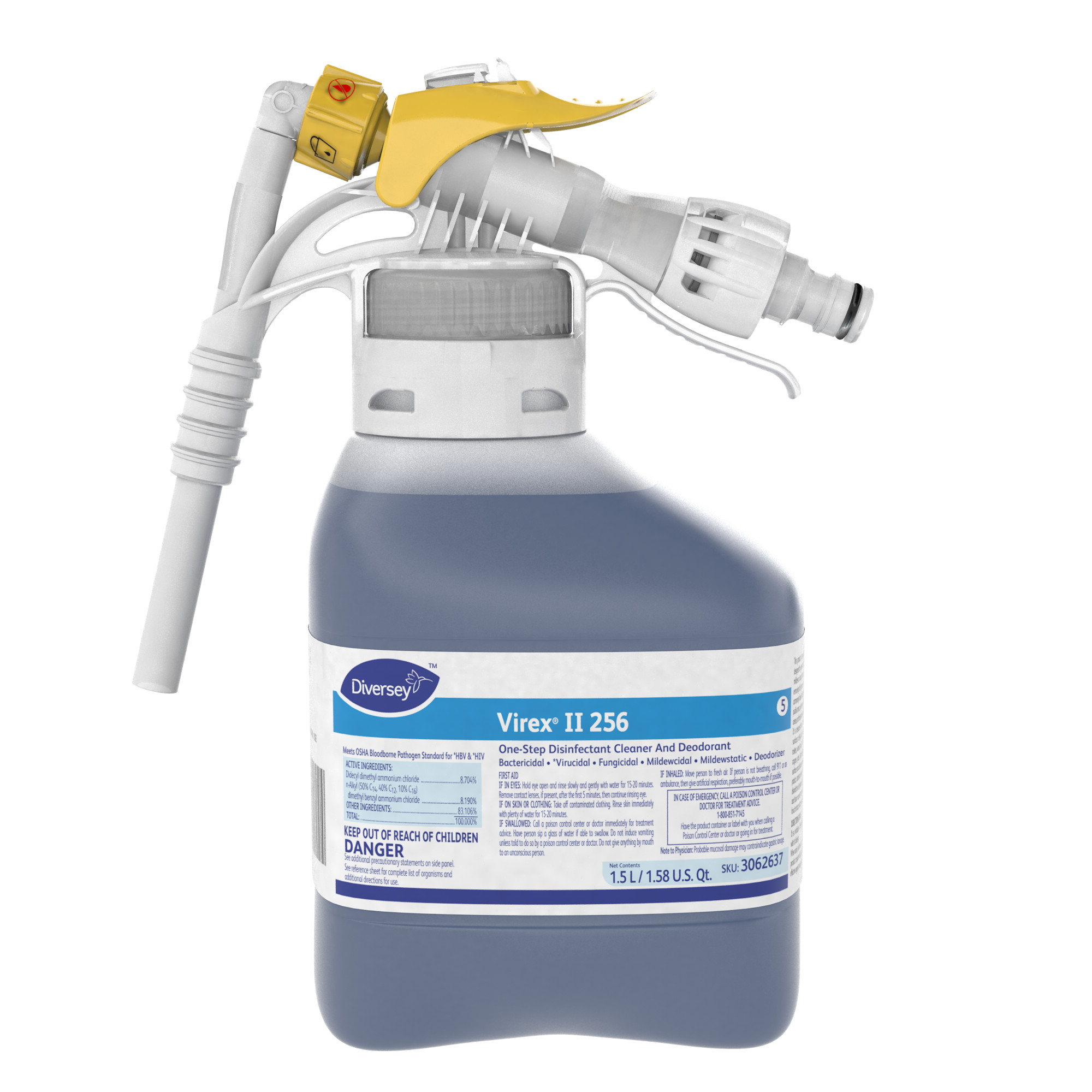 Diversey Virex II 256 Disinfectant Cleaner - 1.5 L RTD