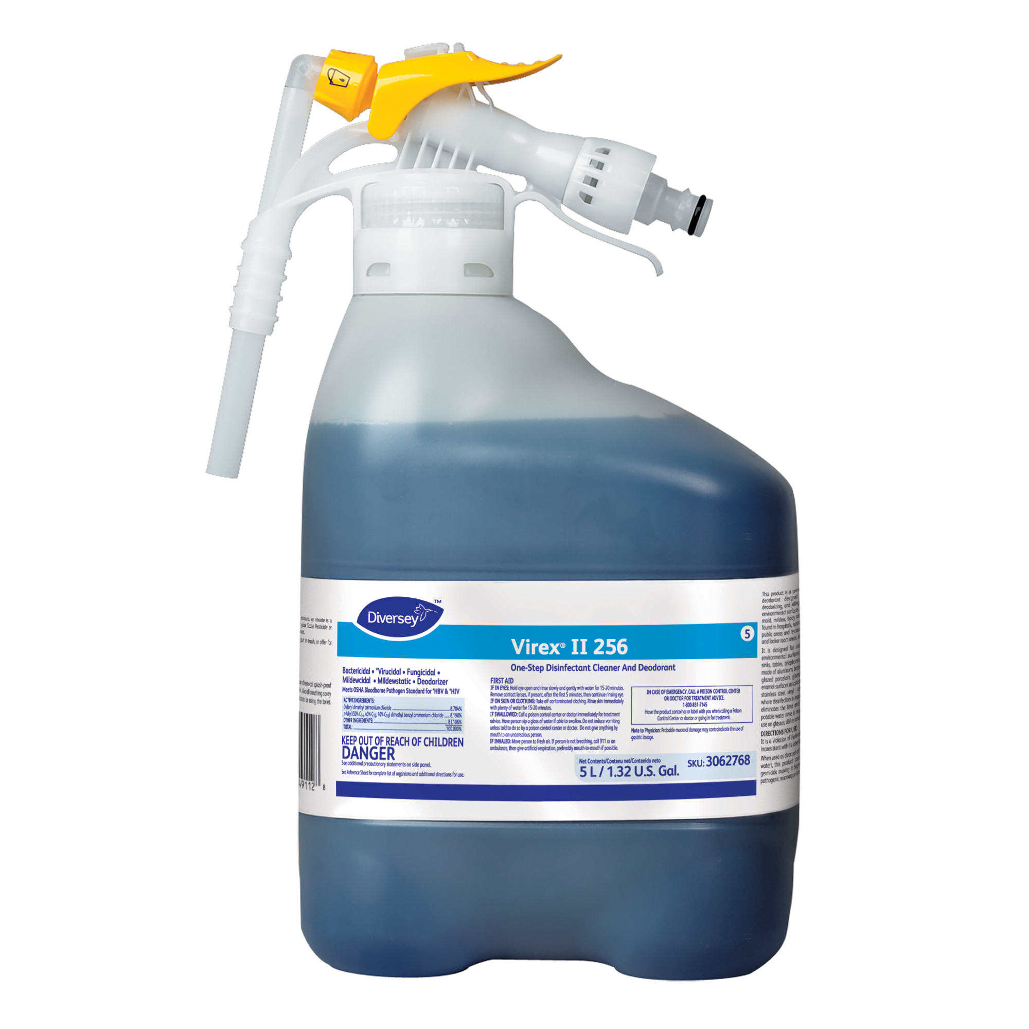 Diversey Virex II 256 Disinfectant Cleaner - 5 L RTD