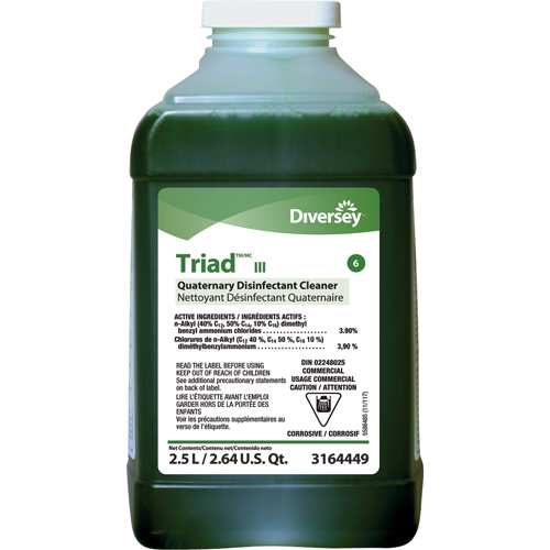 Diversey Triad III Disinfectant Cleaner - 2.5 L. J-Fill