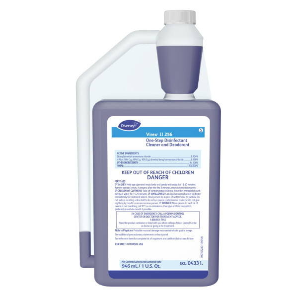 Diversey Virex II 256 Disinfectant Cleaner - 32 oz., 6/Case