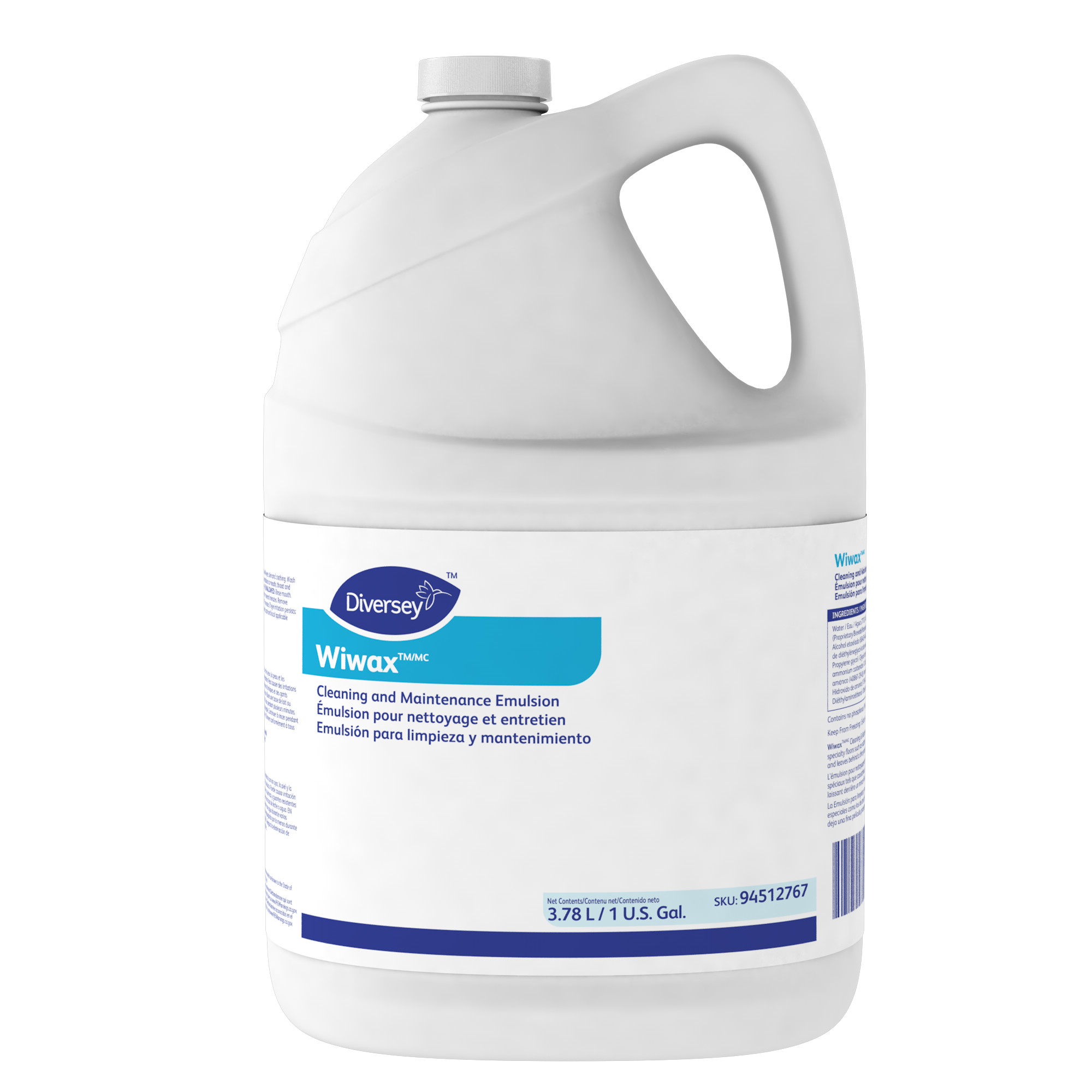 Diversey Wiwax Cleaning & Maintenance Emulsion - Gal.