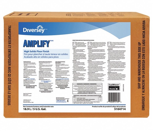 Diversey Amplify High Solids Floor Finish - 5 Gallon Envirobox