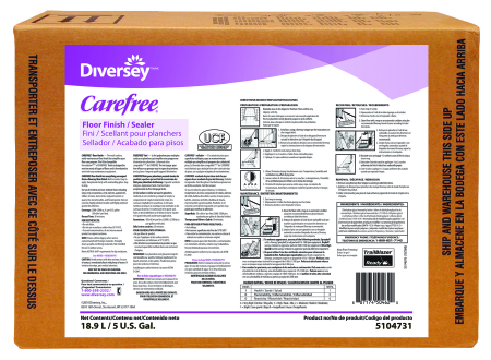 Diversey Carefree Floor Finish/Sealer - 5 Gallon Envirobox
