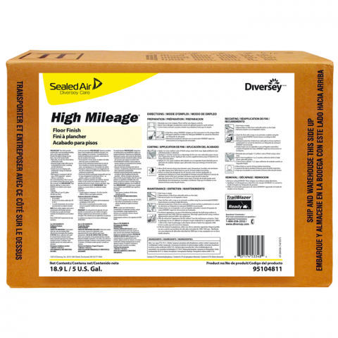 Diversey High Mileage UHS Floor Finish - 5 Gal.