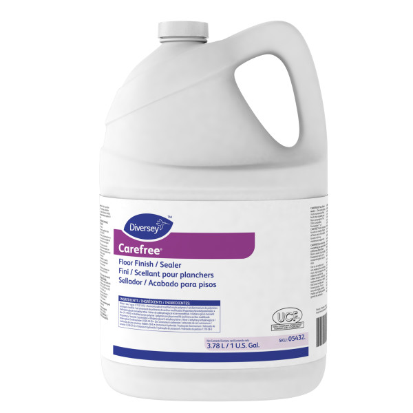 Diversey Carefree Floor Finish/Sealer - 1 Gallon, 4/Case