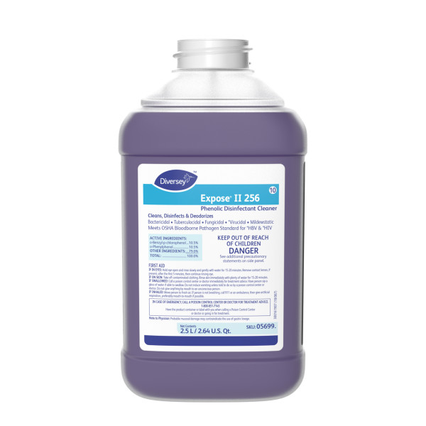 Diversey Expose II 256 Disinfectant/Cleaner -2.5 L J-Fill, 2/Case