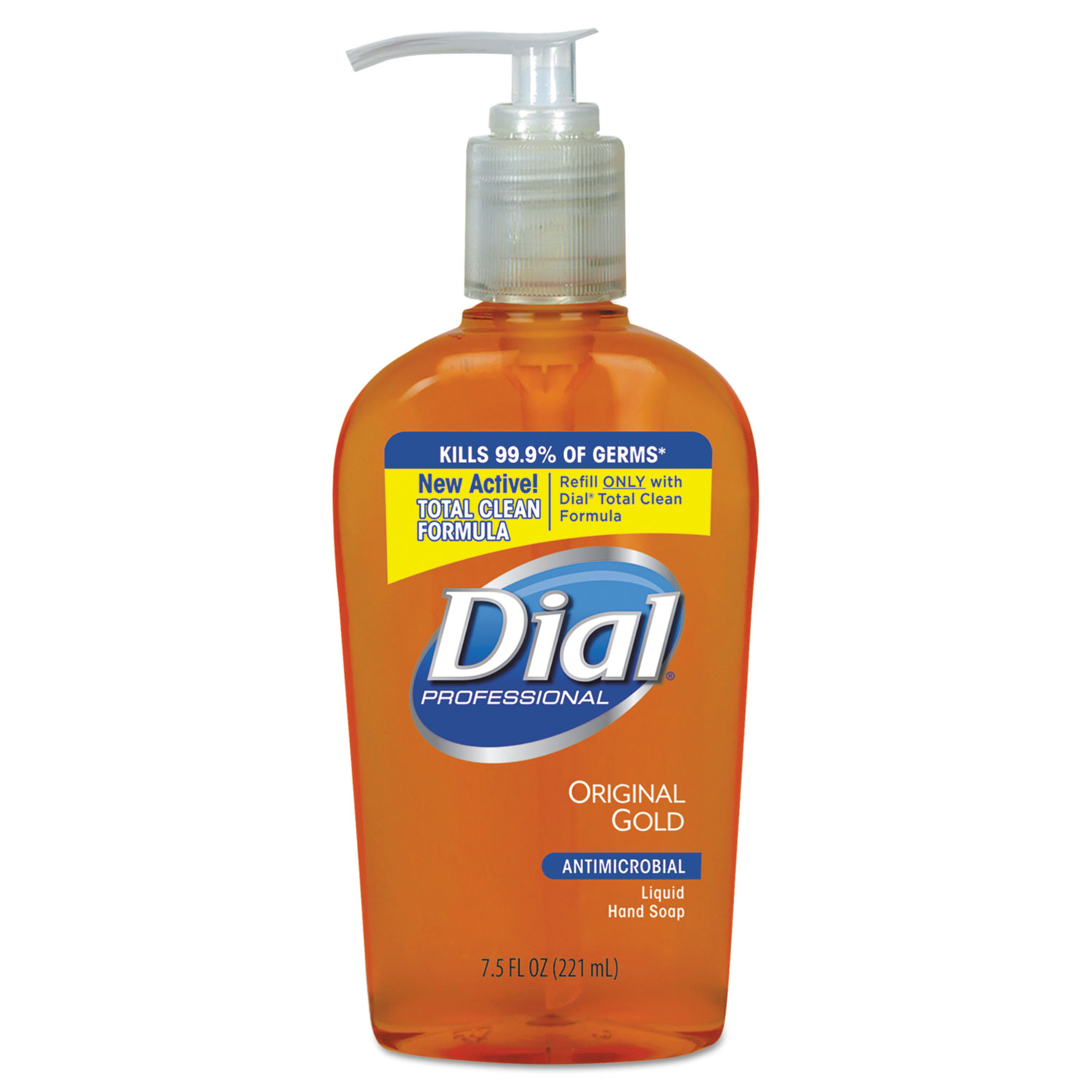 Dial Gold Antimicrobial Hand Soap - Floral Fragrance, 7.5 oz Pump Bottle, 12/Case