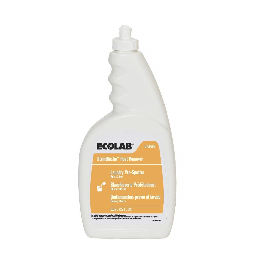 Ecolab Stainblaster Rust Remover Laundry Pre-Spotter - Pull Top, 22 oz, 4/Case