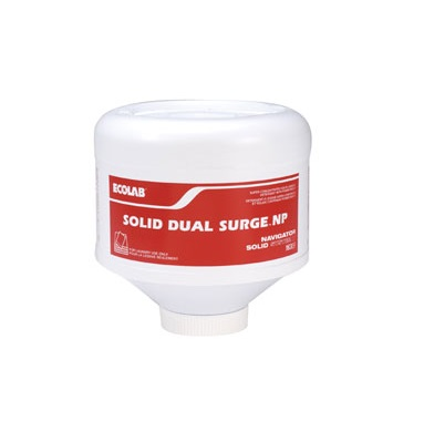 Ecolab Solid Dual Surge NP Laundry Detergent - 8 lbs