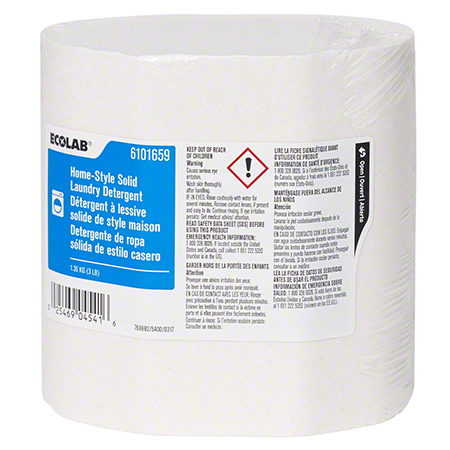 Ecolab Enzymatic Home-Style Solid Laundry Detergent - 3 lb, 4/Case