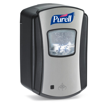 PURELL® LTX-7™ Touch-Free Hand Sanitizer Dispenser - Chrome and Black
