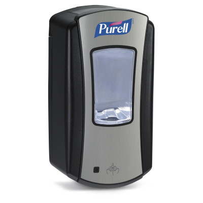 PURELL® LTX-12™ Touch-Free Hand Sanitizer Dispenser - Chrome and Black