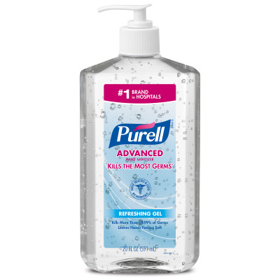 Purell® Advanced Hand Sanitizer Gel - 20 oz Table Top Pump Bottle