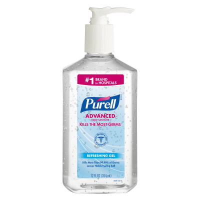 PURELL® Advanced Hand Sanitizer Gel  - 12fl oz, Table Top Pump