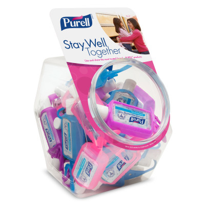PURELL® Advanced Hand Sanitizer Gel with Jelly Wrap™ Carrier Case - 1fl oz, 25 count with Display