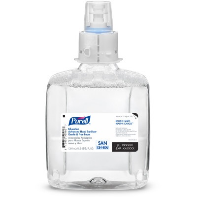 Purell® Education Advanced Hand Sanitizer Gentle & Free Foam, 3 refills