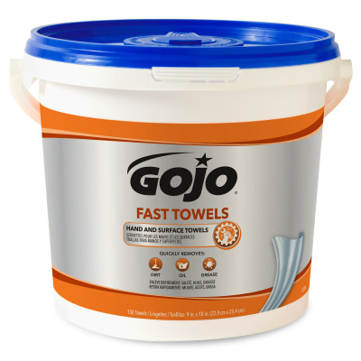 GOJO® Fast Towel - 130 count Bucket