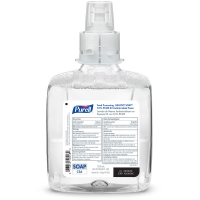 GOJO PURELL® Food Processing HEALTHY SOAP® 0.5% PCMX Antimicrobial E2 Foam Handwash - 1200 mL, 2/Case