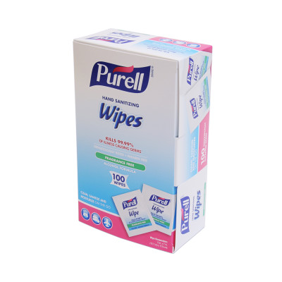 PURELL® Alcohol Formula Hand Sanitizing Wipes- 100 Individually-Wrapped