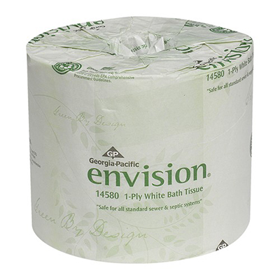 GP Envision® 1-Ply Bathroom Tissue - White