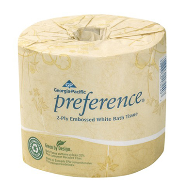 GP Preference® 2-Ply Embossed Bathroom Tissue - 550 sheets, White, 80 rolls