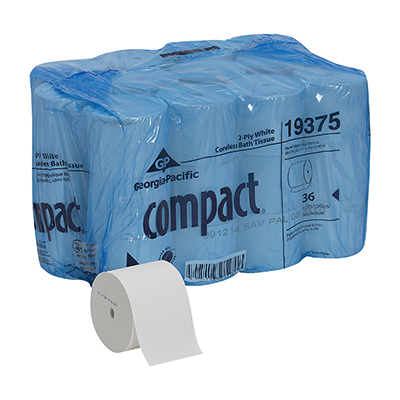 GP Compact® White Coreless 2-ply Tissue - 1000 ct