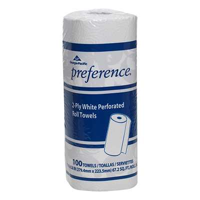 GP Preference® White Perforated Roll Towel - 100 count