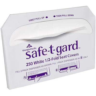 GP Saf-T-Gard™ Toilet Seat Covers - 14.5in x 17in, White