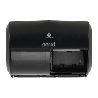 GP Compact® Side-By-Side Double Roll Toilet Paper Dispenser - Black