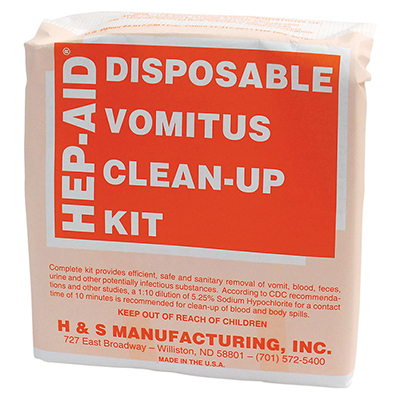 Hep-Aid® Disposable Vomitus Clean-Up Kit, 12 kits