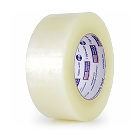 "Intertape® 6100 Utility Hot Melt Case Sealing Tape - 2"" x 1500yds, Clear, 1.6 mil, 6/Case"