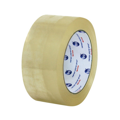 Intertape® 6100 X-Tra Utility Hot Melt Case Sealing Tape on 1.5 in Core - Clear, 48 mm x 200 m, 1.6 mil, 36/Case