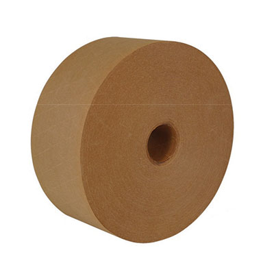 Legend® Light Duty Reinforced Paper Water Activated Tape - Natural, 72 mm x 137 m, 10.5 mil, 10/Case