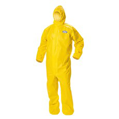 Kleenguard® A70 Chemical Spray Protection Coveralls, Yellow, 4XL, 12 suits