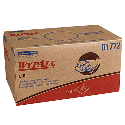 WypAll* L10 Dairy Towels - 9in x 10.25in, Box