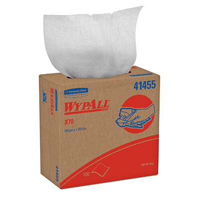WypAll* X70 Wipers - 9.1in x 16.8in, White , Box