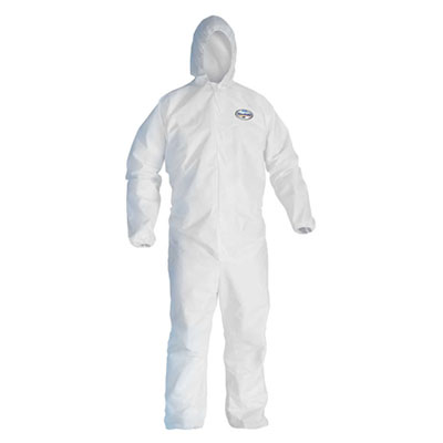 Kleenguard® A45 Liquid and Particle Protection Surface Prep and Paint Suit, White, 25 suits