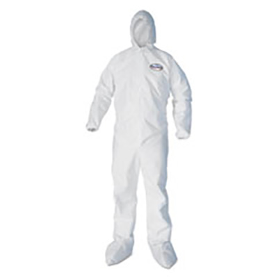 Kleenguard® A40 Liquid and Particulate Protection Coveralls, White, 25 suits