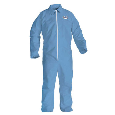 Kleenguard® A65 Flame Resistant Coverall, Blue, 21 suits