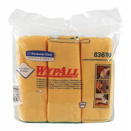 83610 Wypall Microfiber Cloths Yel 4/6